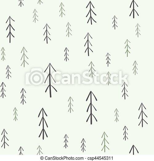 fur-tree, modèle, seamless - csp44545311