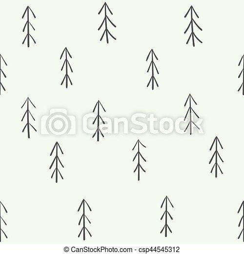 fur-tree, modèle, seamless - csp44545312