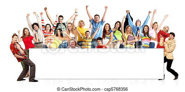furcsa, boldog, emberek - csp5768356
