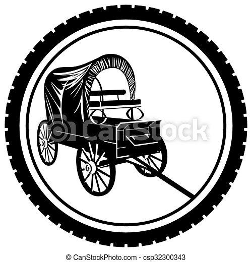 furgão, emblema, antigas - csp32300343