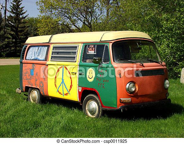 furgão, hippie - csp0011925