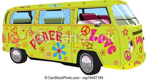 furgon, hippi - csp18497184