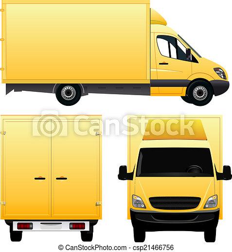 furgone, giallo - csp21466756