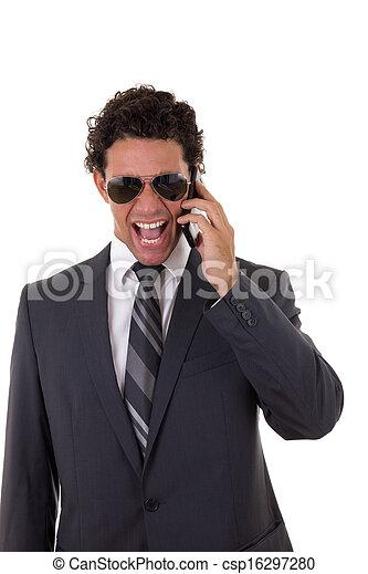 furious businessman - csp16297280