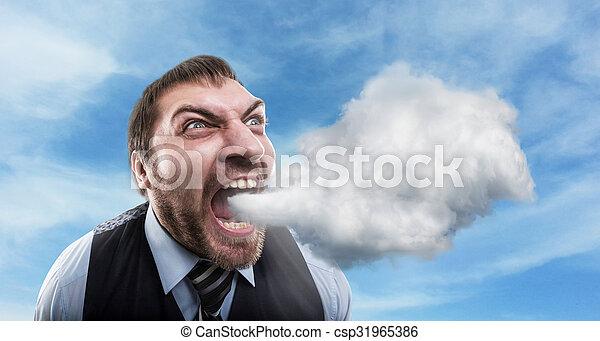Furious businessman - csp31965386