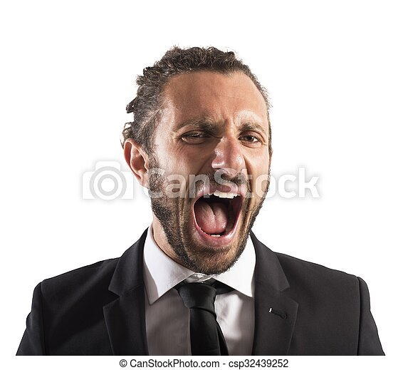 Furious businessman screaming - csp32439252