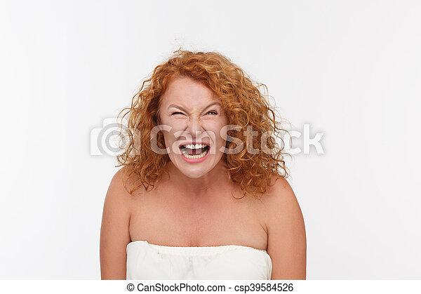 Furious mature woman - csp39584526