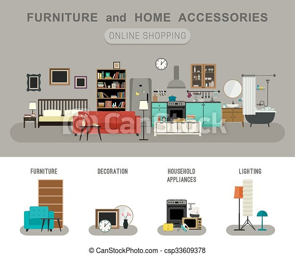 Furniture and home accessories banner. - csp33609378