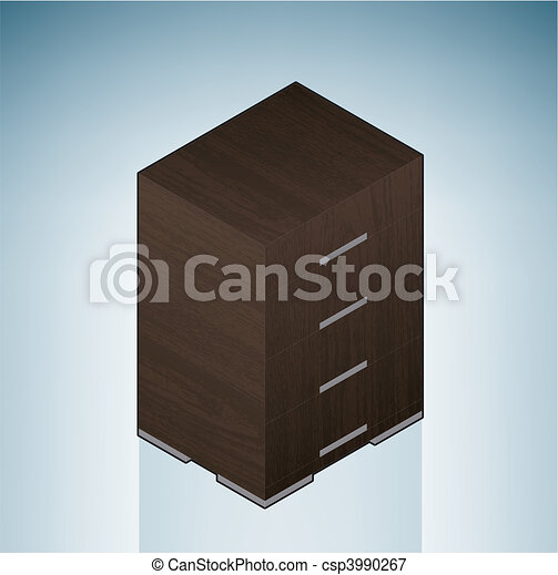 Furniture: Bedroom Chest of Drawers - csp3990267