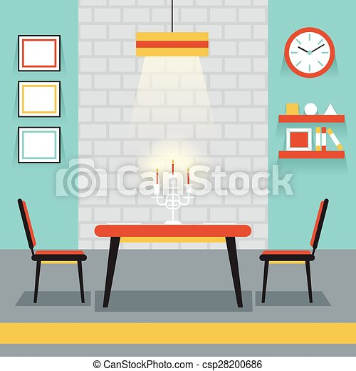 Furniture Display In Room : Kitchen, Dining Room   Csp28200686