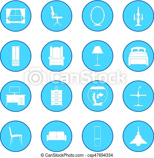 Furniture icon blue - csp47694334