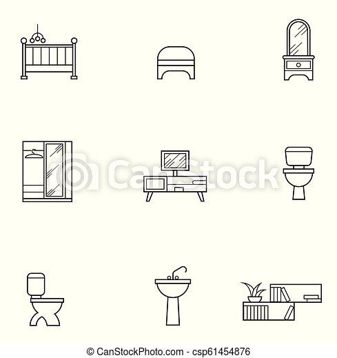 Furniture icon set - csp61454876