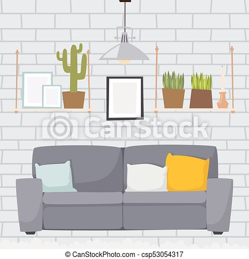 Furniture Room Interior Design Apartment Home Decor Concept Flat Impressive Home Decor Apartment Concept