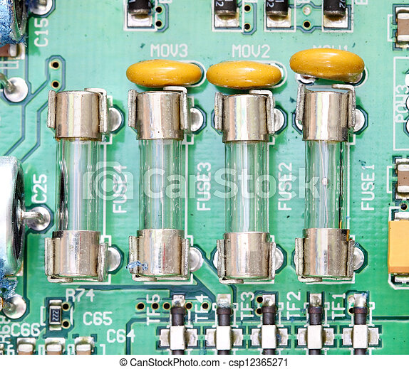 fuse and component with circuit board fuse and component picture rh canstockphoto com circuit board fuse symbol circuit board fuse mst t400ma/250v