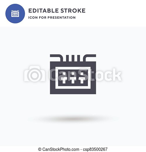 Fuse Box icon vector, filled flat sign, solid pictogram isolated on white, logo illustration. Fuse Box icon for presentation. - csp83500267