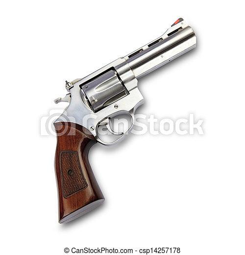 fusil, fond, isolé, blanc - csp14257178