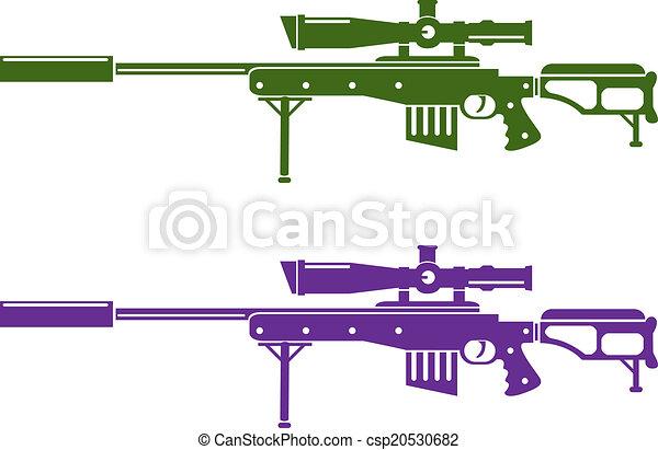 fusil, tireur embusqué - csp20530682