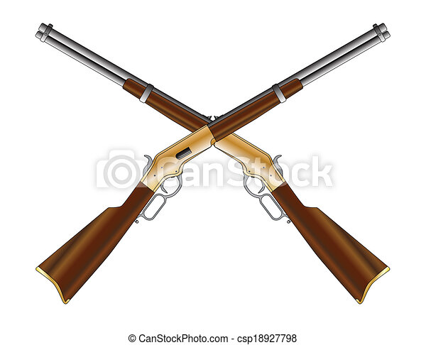 fusils, traversé - csp18927798