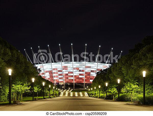 Fussballstadion Nacht