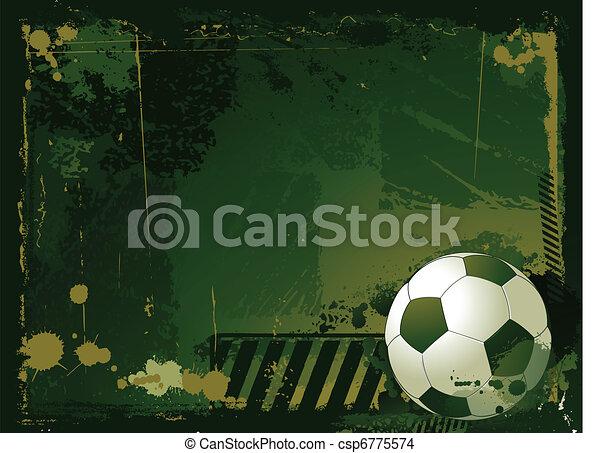 futball, grunge, háttér - csp6775574
