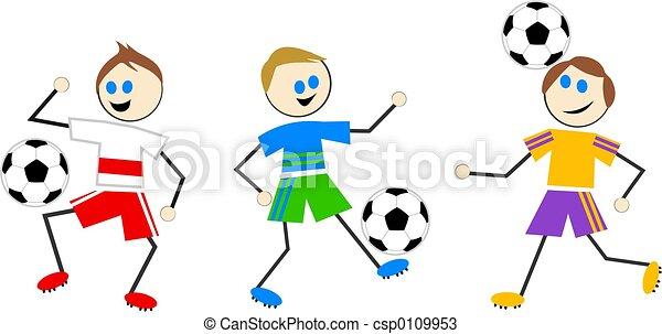 futball, gyerekek - csp0109953