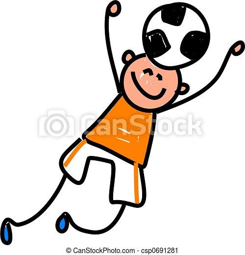 futball, kölyök - csp0691281