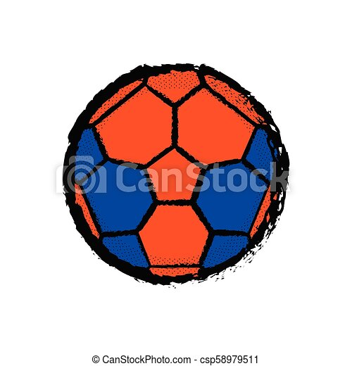 Ícono de fútbol aislado - csp58979511