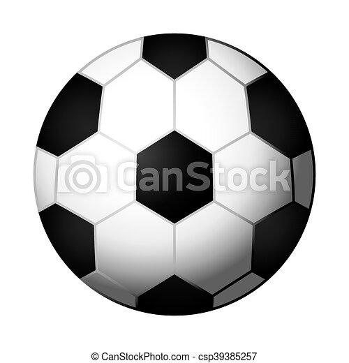 Bola de fútbol icono aislado - csp39385257
