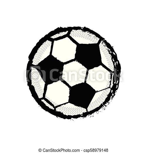 Ícono de fútbol aislado - csp58979148