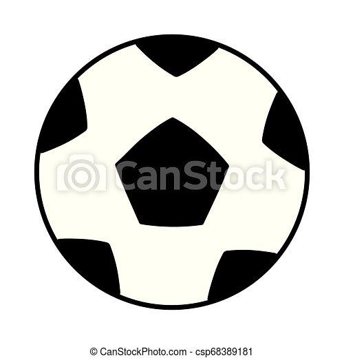 Bola de fútbol icono aislado - csp68389181