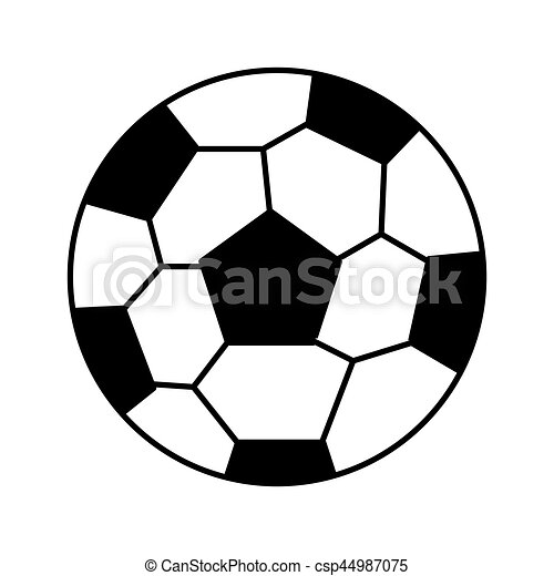 Bola de fútbol icono aislado - csp44987075