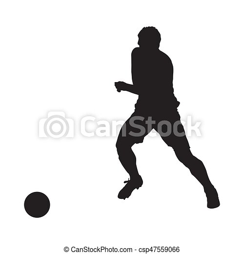 Jugador de fútbol, vector silueta - csp47559066