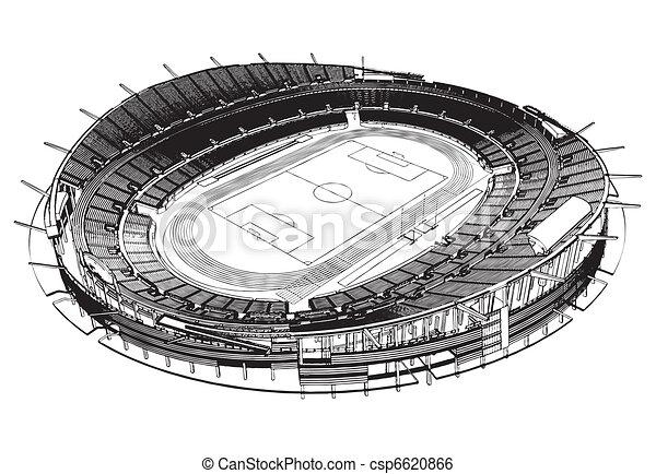 El estadio de fútbol - csp6620866