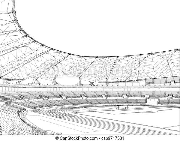 El estadio de fútbol - csp9717531