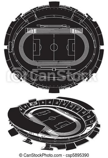 El estadio de fútbol - csp5895390
