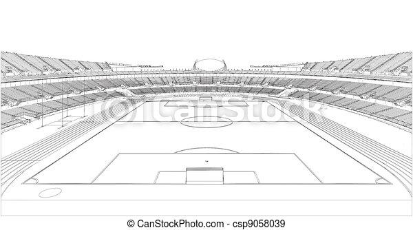 El estadio de fútbol - csp9058039