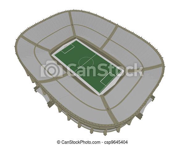 El estadio de fútbol - csp9645404