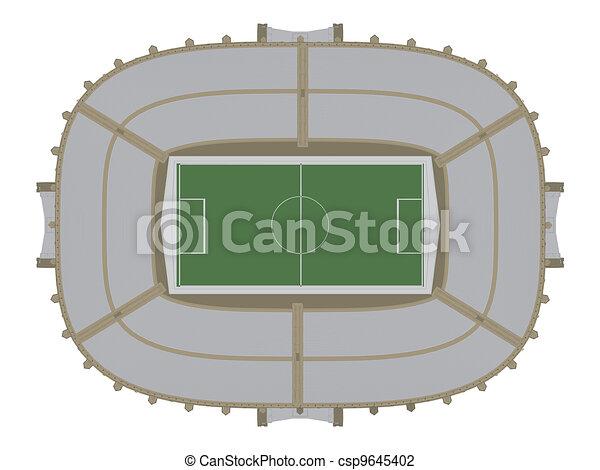 El estadio de fútbol - csp9645402