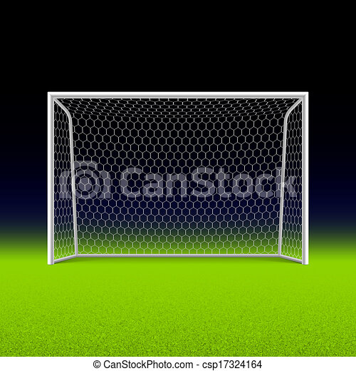 Gol de fútbol en negro - csp17324164