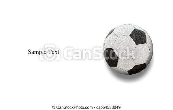 La clásica pelota de fútbol de fondo blanco - csp54533049