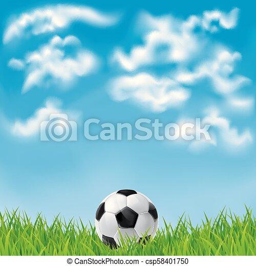 Antecedentes con una pelota de fútbol. - csp58401750