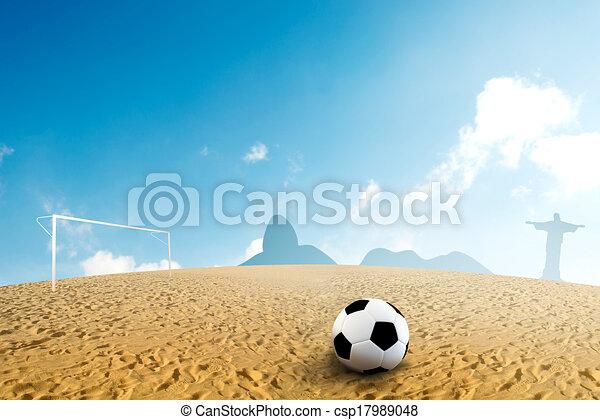 Dibujo de futbol playa  Soccer pelota en arena de la playa