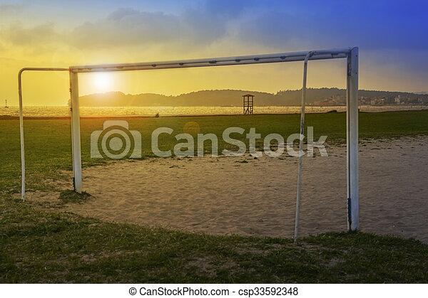 Dibujo de futbol playa meta  Soccer meta en Concha playa