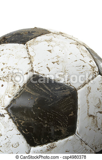 El primer plano del fútbol - csp4980378