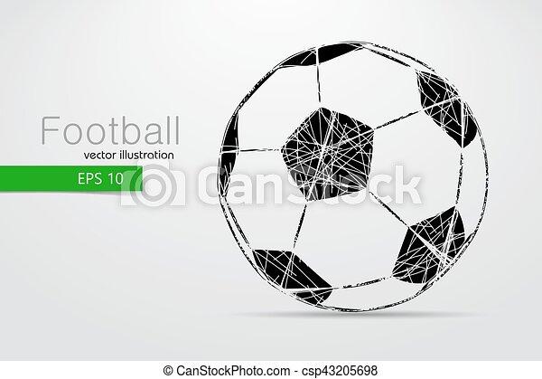 Silueta de una pelota de fútbol. - csp43205698