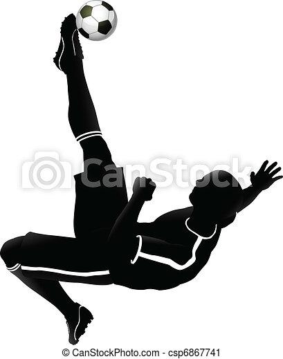 Ilustración de futbolista - csp6867741