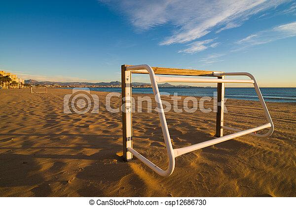 futebol, praia - csp12686730