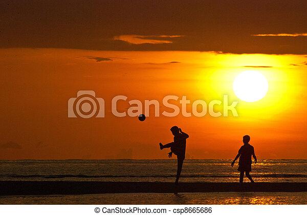 futebol, praia - csp8665686