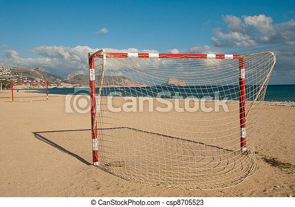 futebol, praia, passo - csp8705523