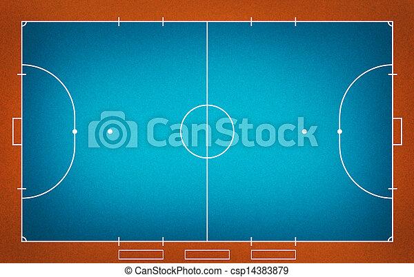 Futsal field - csp14383879